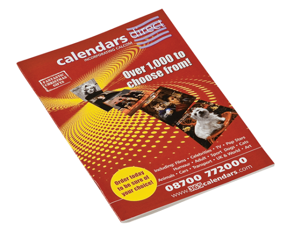 Calendars Direct catalogue design