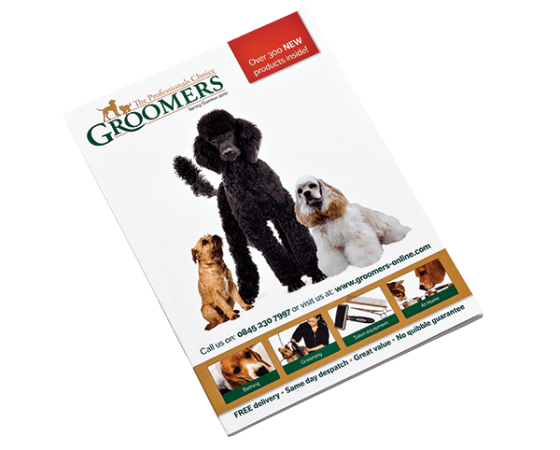 Groomers catalogue design